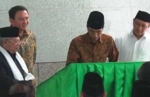 Jokowi Resmikan Mesjid Fatahillah Balaikota